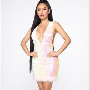 Sequence mini dress